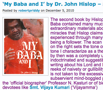 My Baba and I - by John Hislop