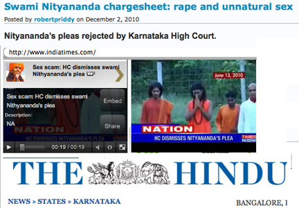 Nithyananda rape and unnatural sex case