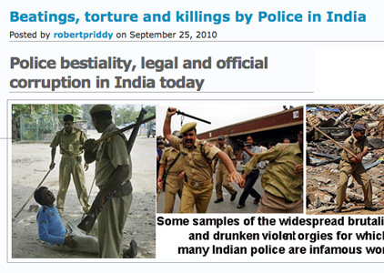Indian police brutality and corruption