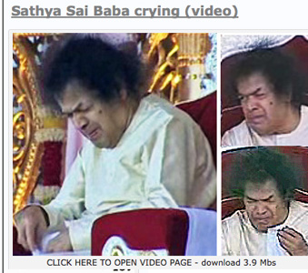 Video clip of Sathya Sai Baba crying in public - with comments