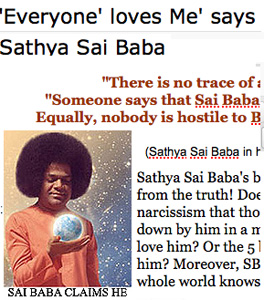Sathya Sai Baba claims everyone loves him!